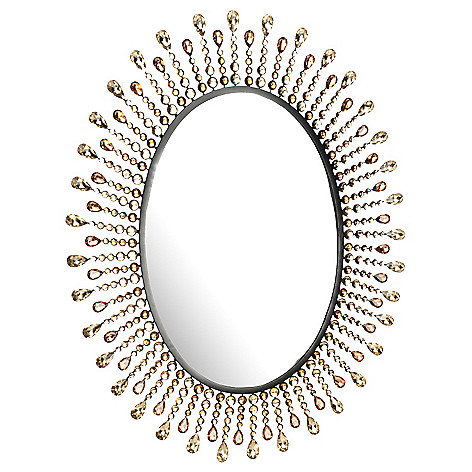 438-270 - Style at Home with Margie 30.5'' Jeweled Sunburst Wall Mirror
