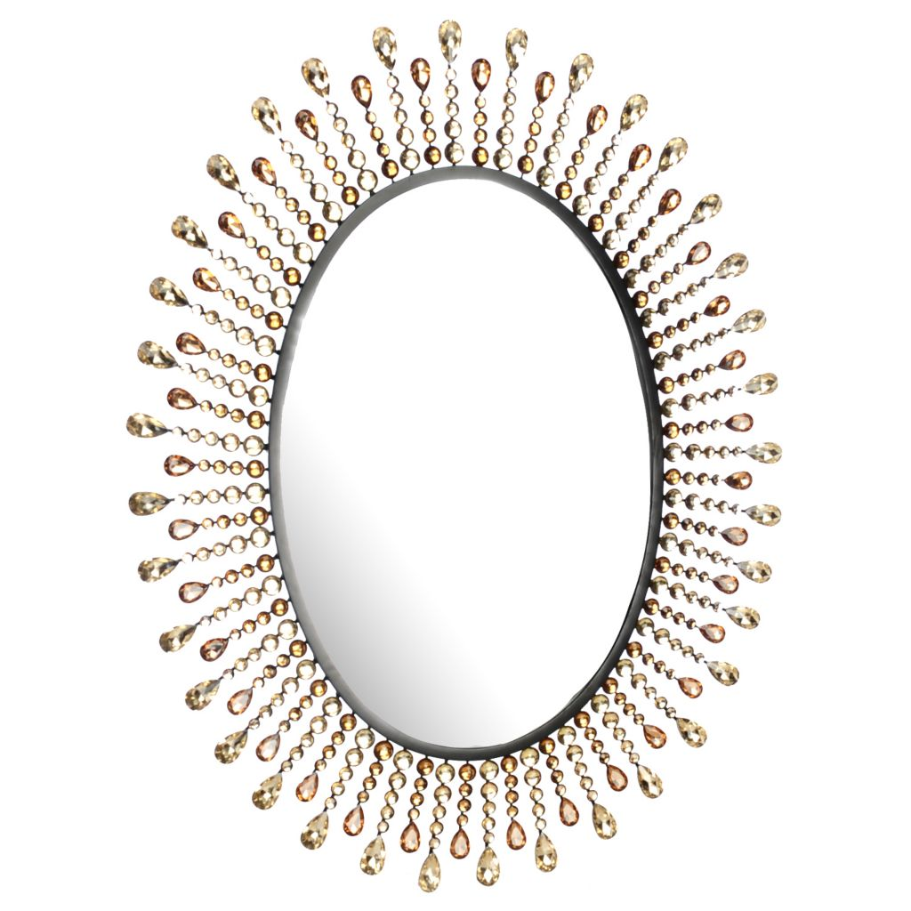 "438-270 - Style at Home with Margie 30.5"" Jeweled Sunburst Wall Mirror"