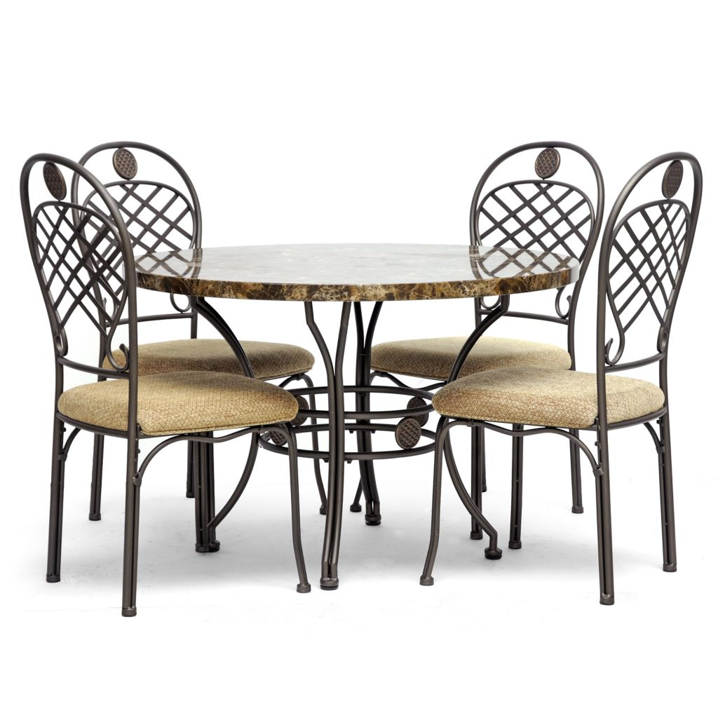 438-338 - Baxton Studio Hera Five Piece Modern Dining Set