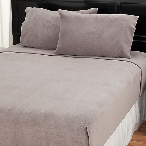 438-421 - Cozelle® Microplush Solid or Printed Four-Piece Sheet Set