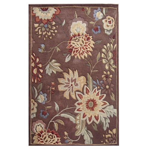 438-441 - Global Rug Gallery Hand-Tufted 100% Wool Hi-Low Floral Bouquet Rug