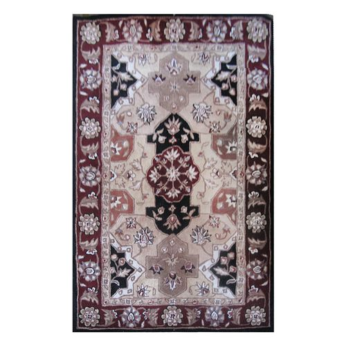 438-442 - Global Rug Gallery Paneled Persian-Style Hand-Tufted 100% Wool Moroccan Panel Rug