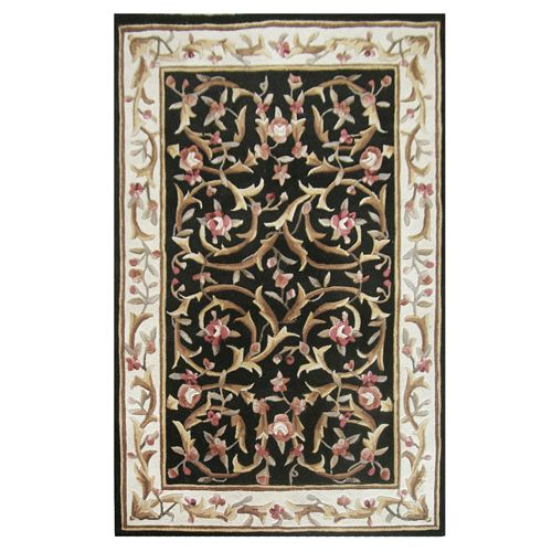 438-443 - Global Rug Gallery Hand-Tufted 100% Wool Garden Scroll Aubusson-Style Rug