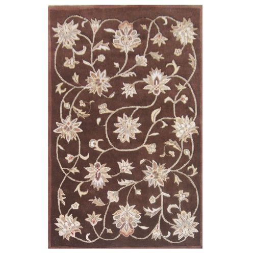 438-445 - Global Rug Gallery 5' x 8' or 8' x 10' Hand-Tufted 100% Wool Hi-Low Ivy Vine Rug