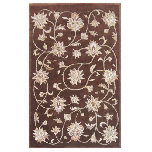 438-445 - Global Rug Gallery 5' x 8' or 8' x 10' Hand-Tufted 100% Wool Hi-Low Ivy Vine Rug