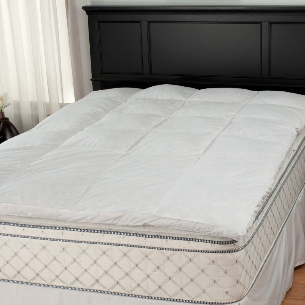 "438-447 - Cozelle® 2"" Gusseted 233TC Cotton Featherbed Mattress Topper"