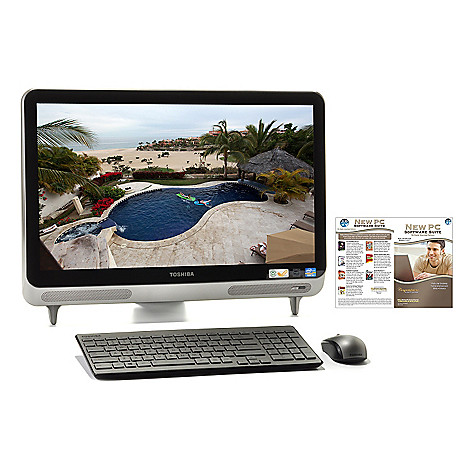 438-490 - Toshiba 23'' Intel® Core™ i3 6GB RAM/1TB HD All-in-One Desktop w/ Software