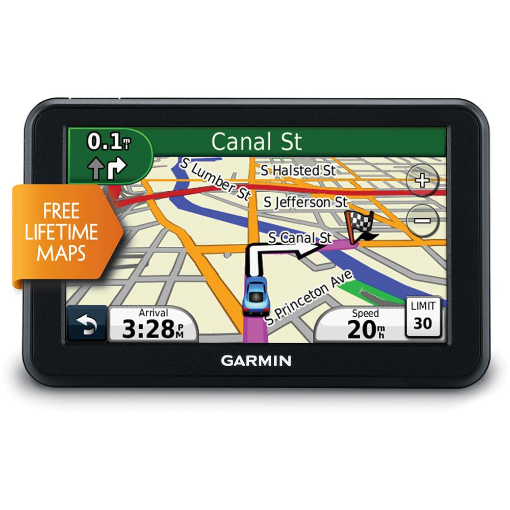 "438-510 - Garmin 5"" GPS Navigator w/ Lifetime Maps & US and Canadian Map Coverage - Refurbished"