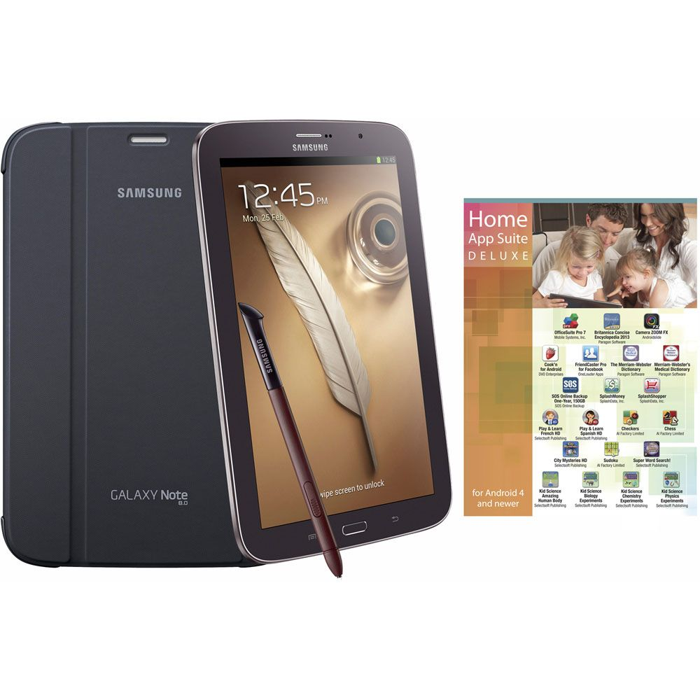 "438-511 - Samsung 8"" 16GB Brown Galaxy Note Tab, w/ Case & App Software"