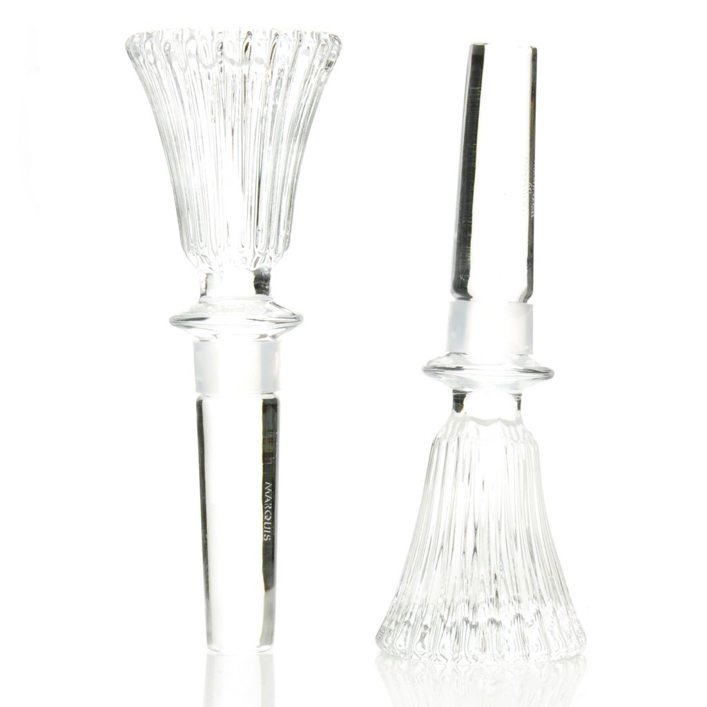 438-520 - Marquis® by Waterford® Set of Two Crystalline Bezel Wine Stoppers
