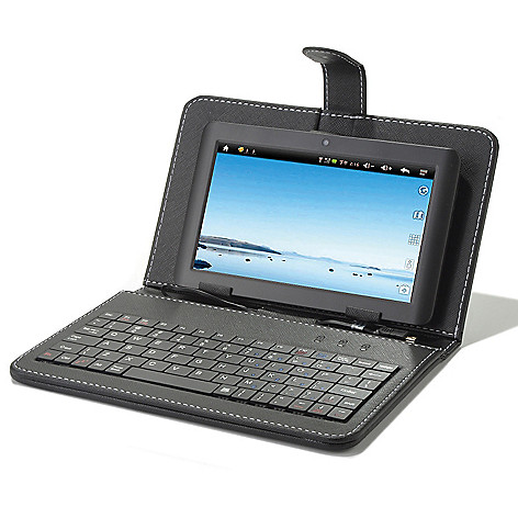 438-521 - Proscan 7'' LED Google Certified Android™ 4.1 Wi-Fi Tablet w/ Micro USB Keyboard Case