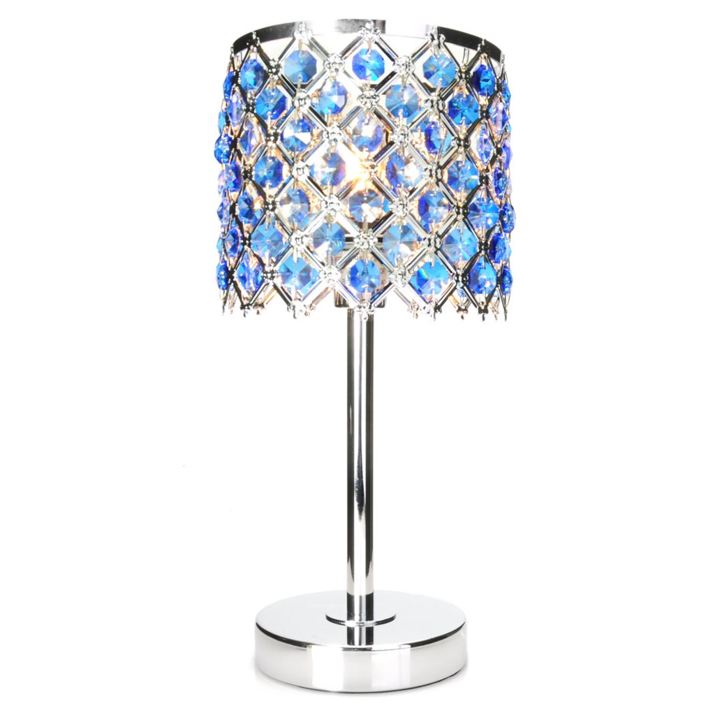 "438-547 - Style at Home with Margie 13.5"" Bring on the Bling Crystal Table Lamp"