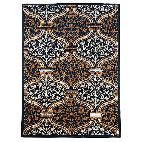 438-553 - Bashian Rugs Damask Hand-Tufted 100% Wool Rug