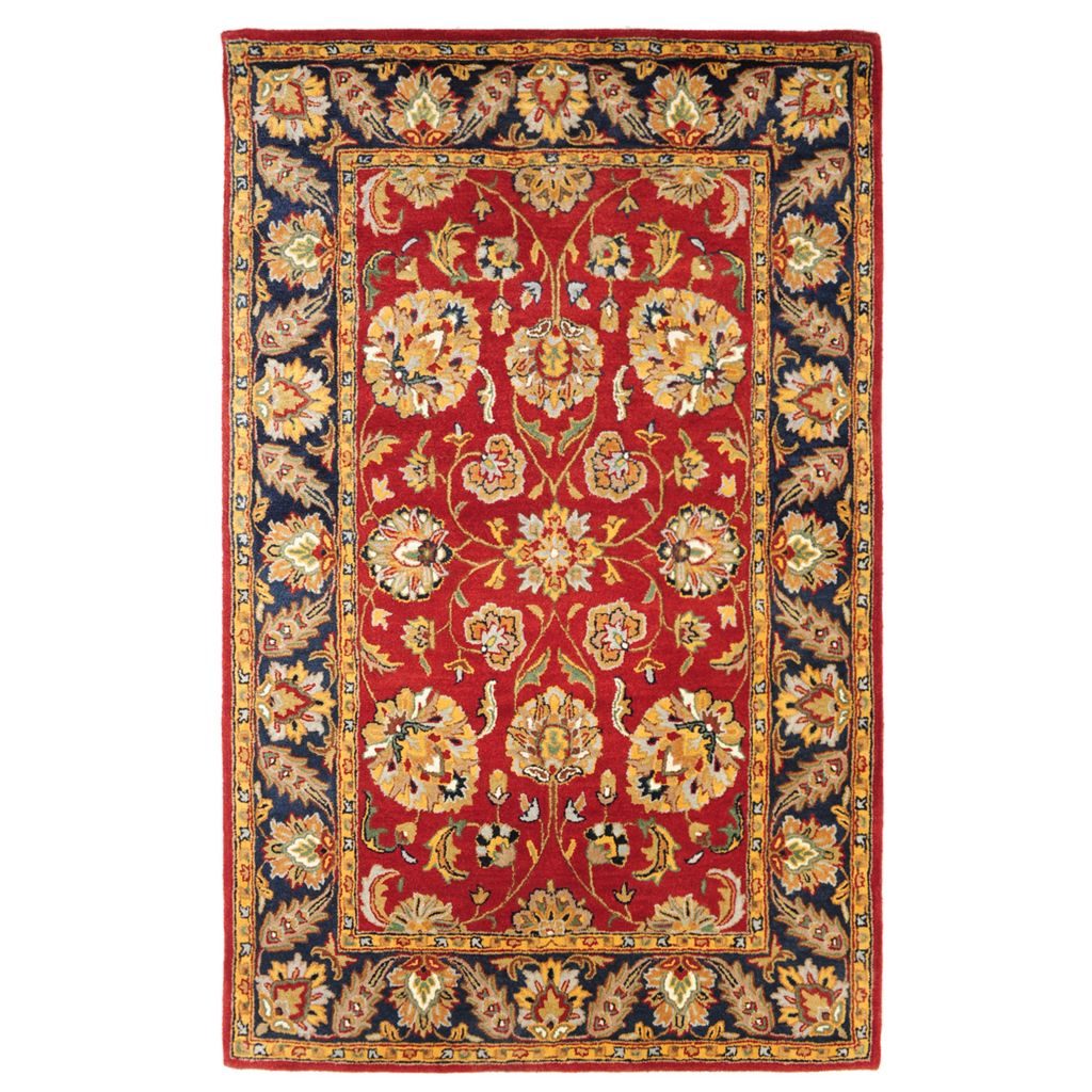 438-557 - Bashian Rugs Arts & Crafts Style Floral Hand-Tufted 100% Wool Rug