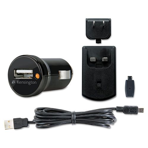438-584 - Kensington USB Car & Wall Smartphone Charger