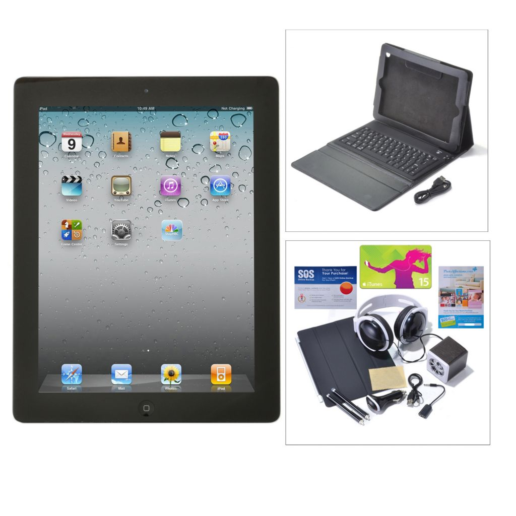 "438-607 - Apple® iPad® 9.7"" 4th Gen Wi-Fi or Wi-Fi+4G Tablet w/ Bluetooth® Accessories Kit"