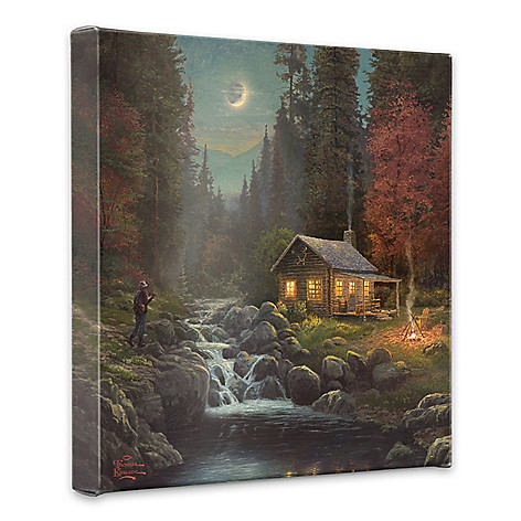 438-610 - Thomas Kinkade ''Away from it All'' 20'' x 20'' Gallery Wrap