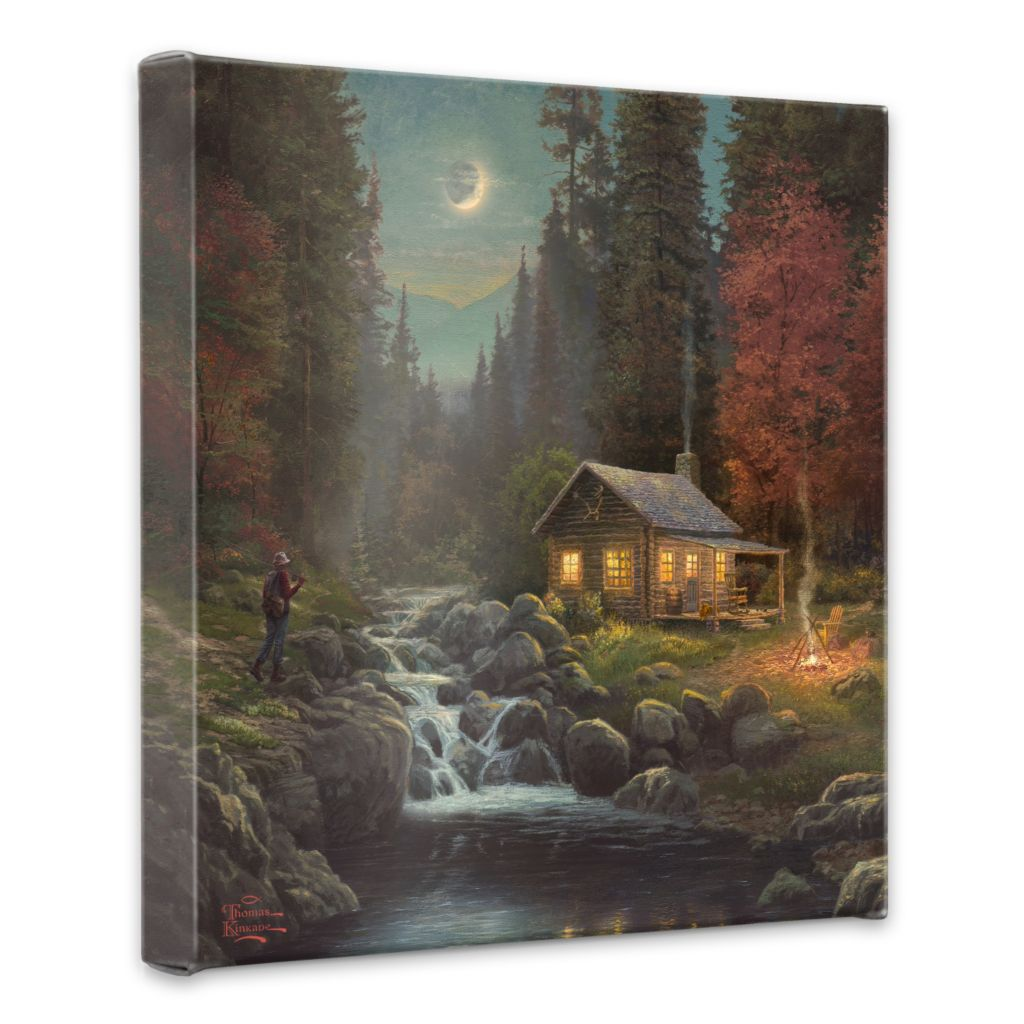 "438-610 - Thomas Kinkade ""Away from it All"" 20"" x 20"" Gallery Wrap"