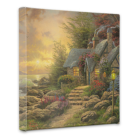 438-611 - Thomas Kinkade ''Seaside Hideaway'' 20'' x 20'' Gallery Wrap