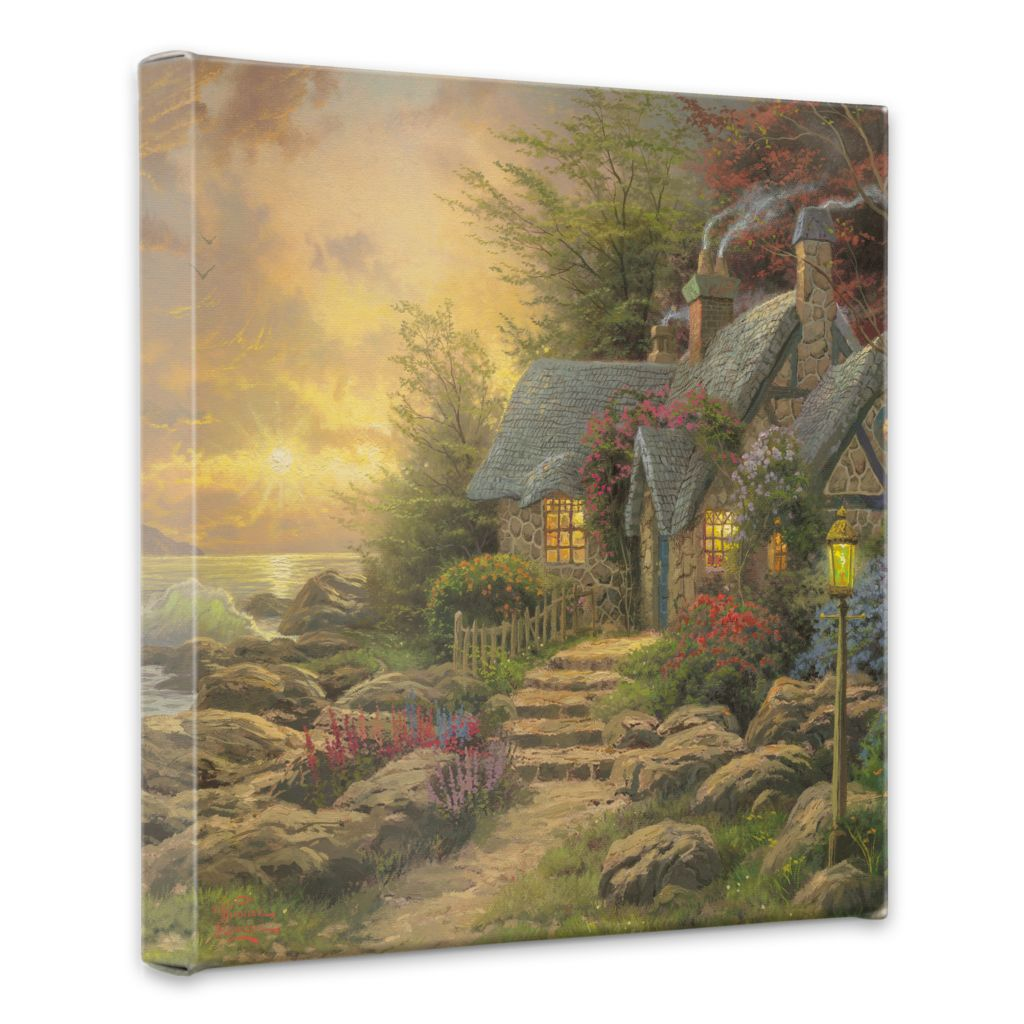 "438-611 - Thomas Kinkade ""Seaside Hideaway"" 20"" x 20"" Gallery Wrap"