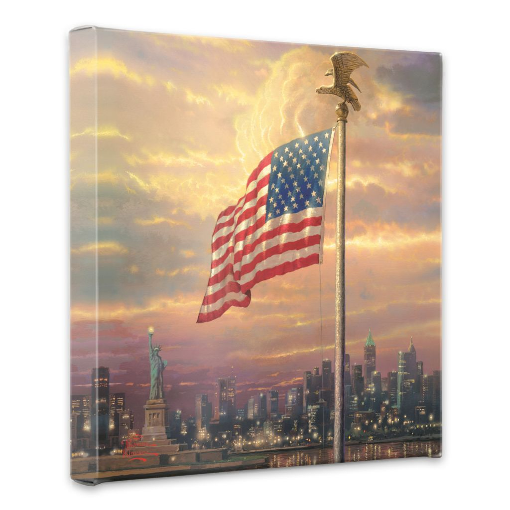 "438-612 - Thomas Kinkade ""Light of Freedom"" 14"" x 14"" Gallery Wrap"