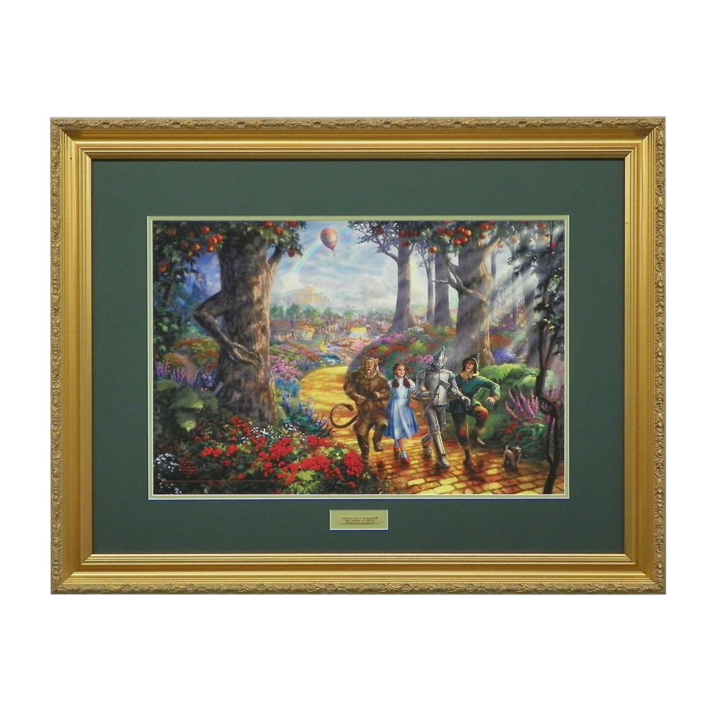 "438-620 - Thomas Kinkade ""Follow the Yellow Brick Road"" Limited Edition Framed Print"