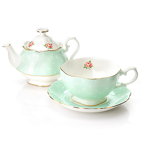 438-651 - Royal Albert New Country Roses Three-Piece Bone China Tea Set