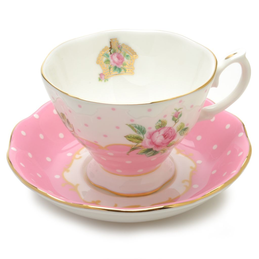 438-653 - Royal Albert® New Country Roses Cheeky Pink Two- Piece 6 oz Teacup & Saucer Set