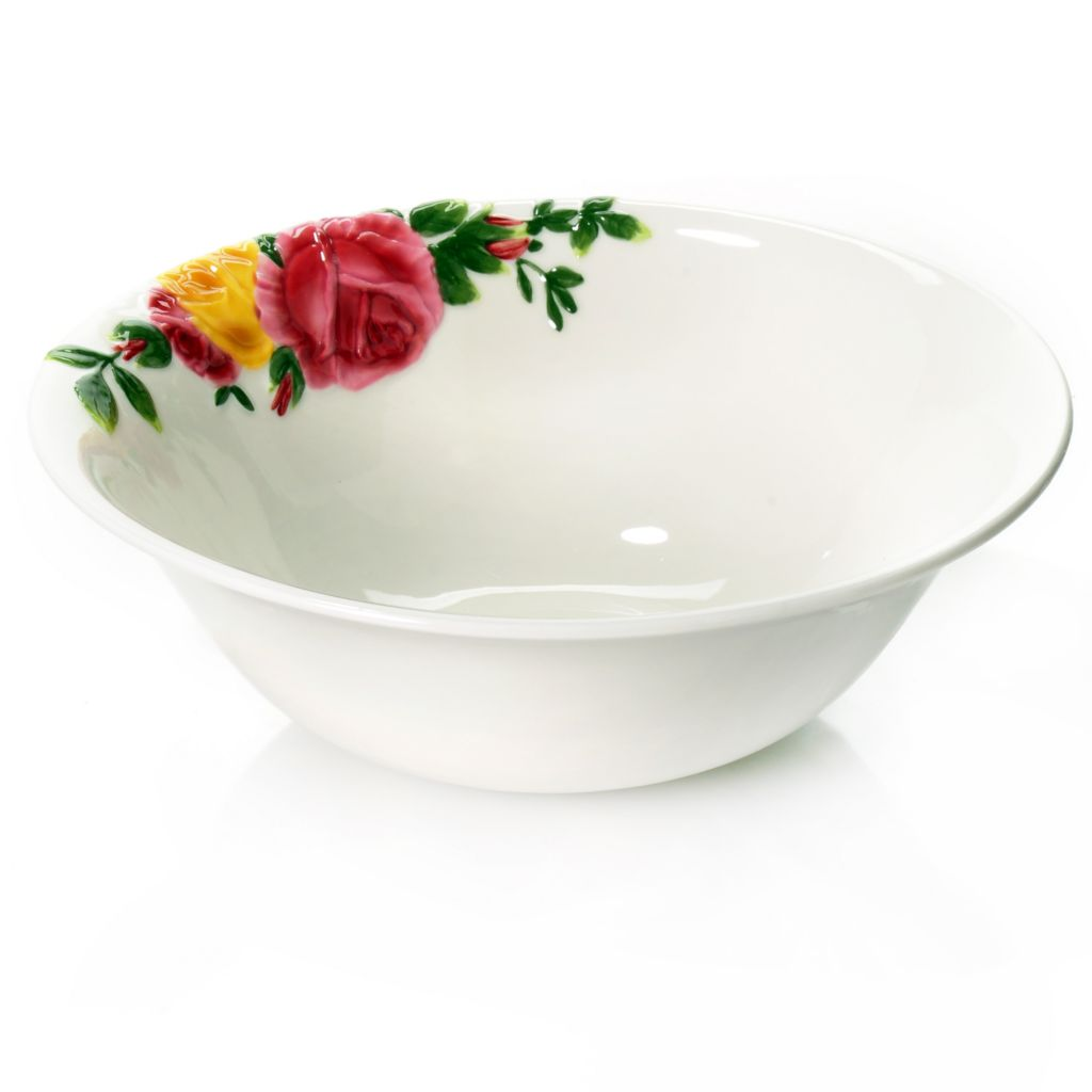 "438-654 - Royal Albert® Country Roses Majolica 10"" Porcelain Serving Bowl"