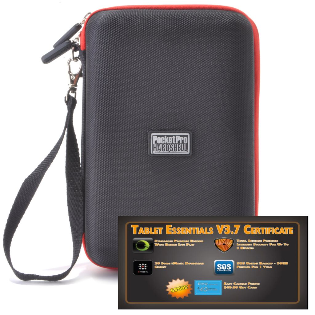 "438-662 - PocketPro™ 7"" Hardshell Tablet Case & Tablet Essentials v3.7 Software"