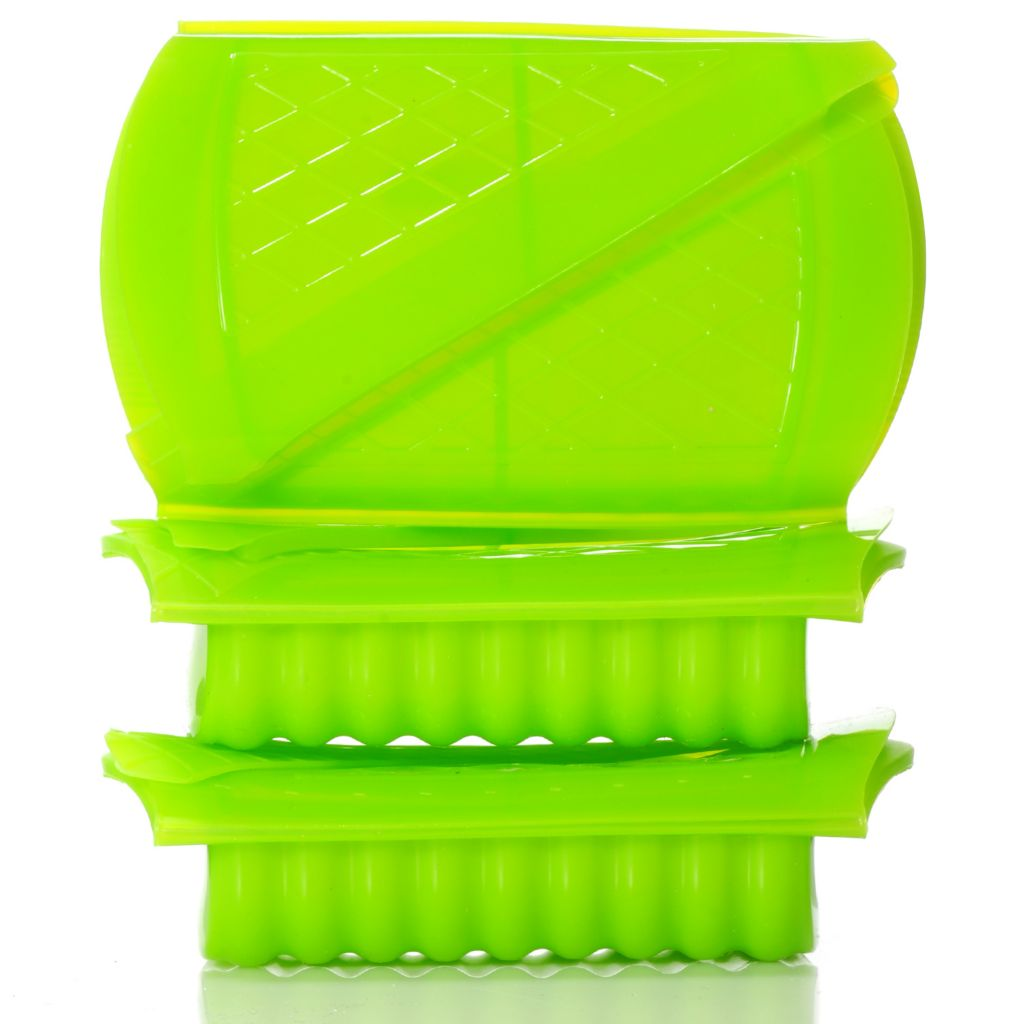 438-674 - Set of Three Silicone Microwave Steamer Containers