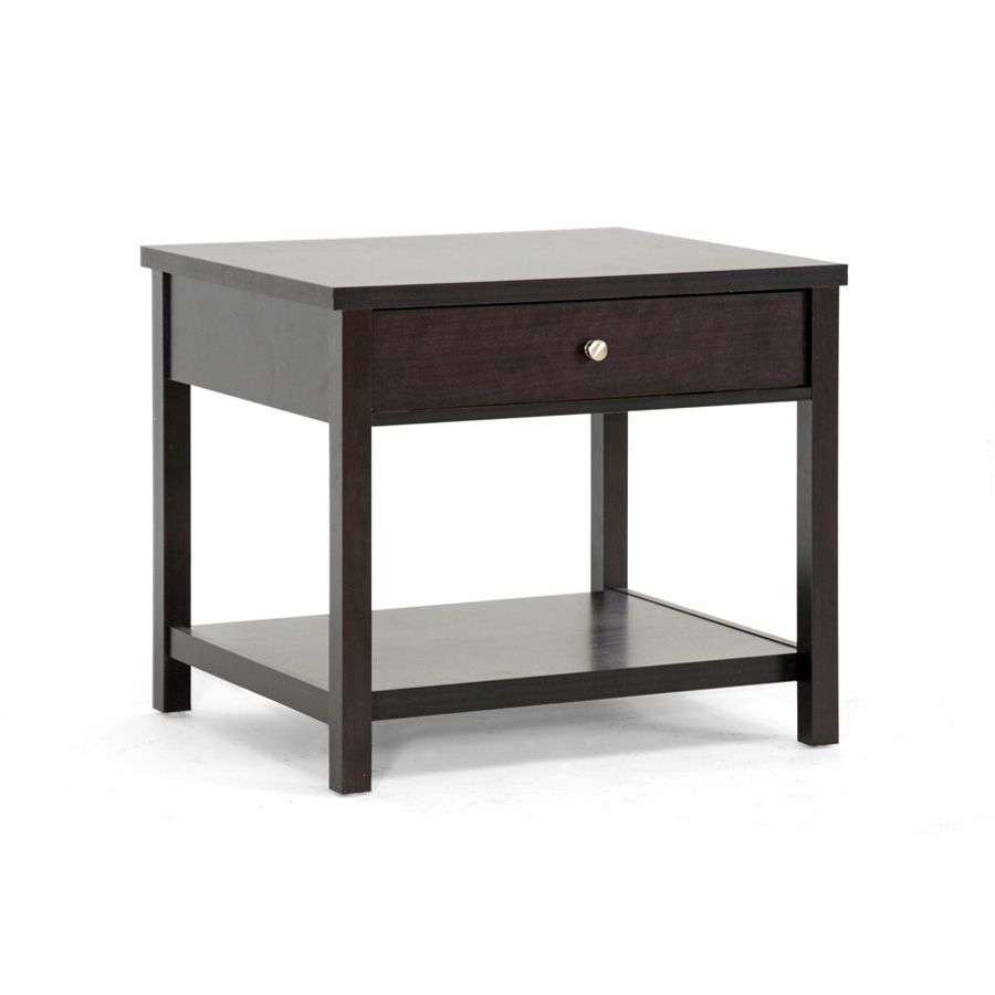 438-680 - Nashua Designer Brown Modern Accent Table w/ Drawer