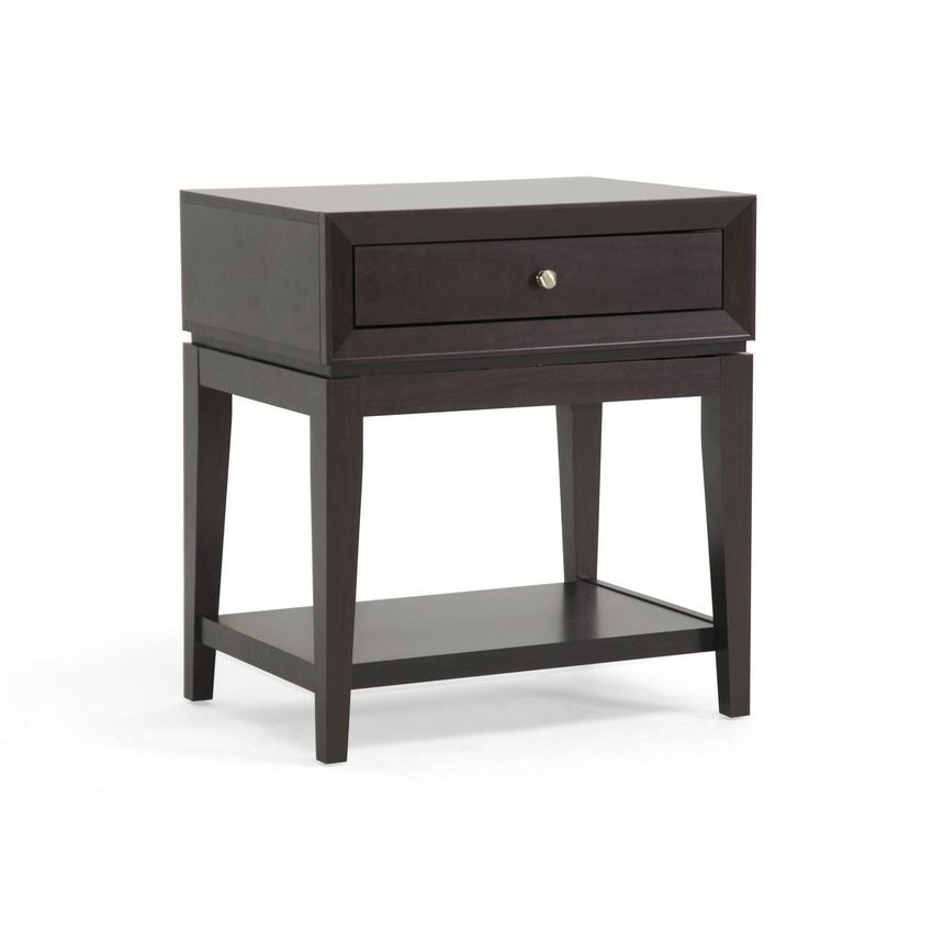 438-681 - Morgan Designer Brown Modern Accent Table w/ Drawer