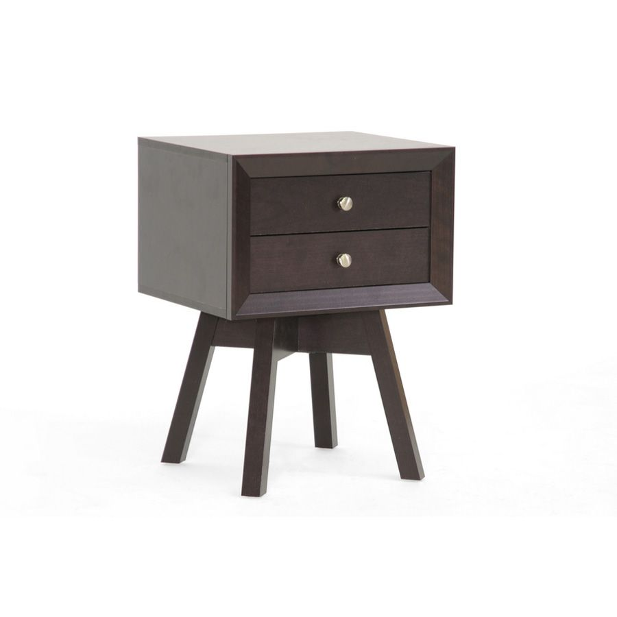 438-682 - Warwick Brown Modern Accent Table w/ Drawers