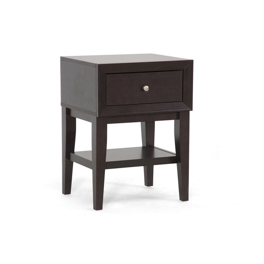 438-684 - Gaston Brown Modern Accent Table w/ Drawer