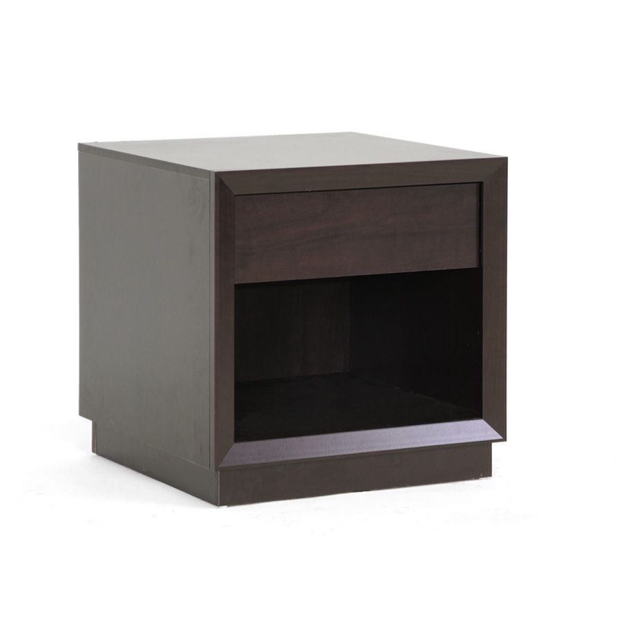 438-685 - Girvin Brown Modern Accent Table w/ Drawer