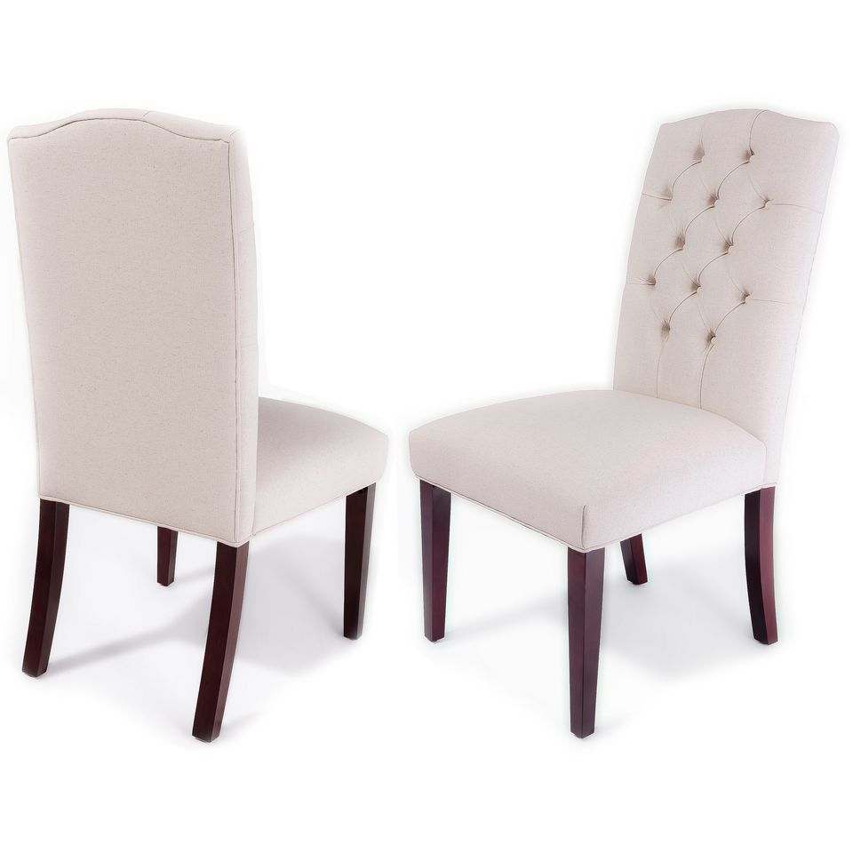 438-724 - Christopher Knight Home™ Crown Top Ivory Dining Chairs - Set of Two