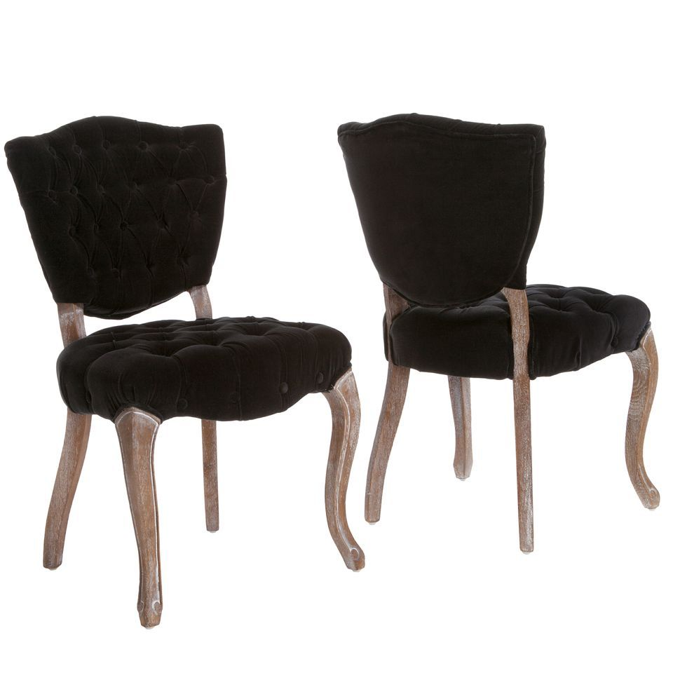 438-726 - Christopher Knight Home™ Bates Tufted Fabric Dining Chairs - Set of Two