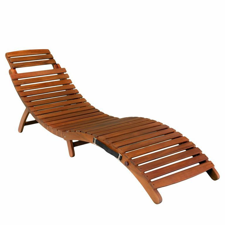 438-737 - Christopher Knight Home™ Lahaina Wood Outdoor Chaise Lounge