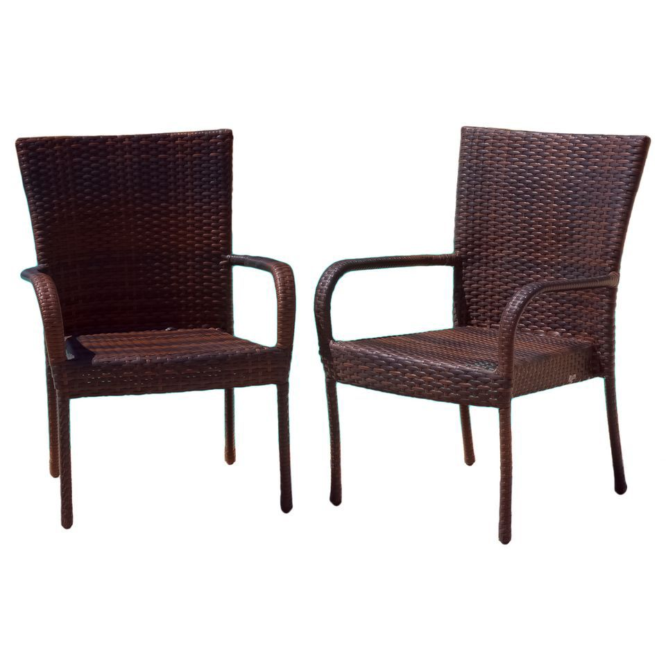 438-743 - Christopher Knight Home™ Outdoor Wicker Chairs  - Set of 2