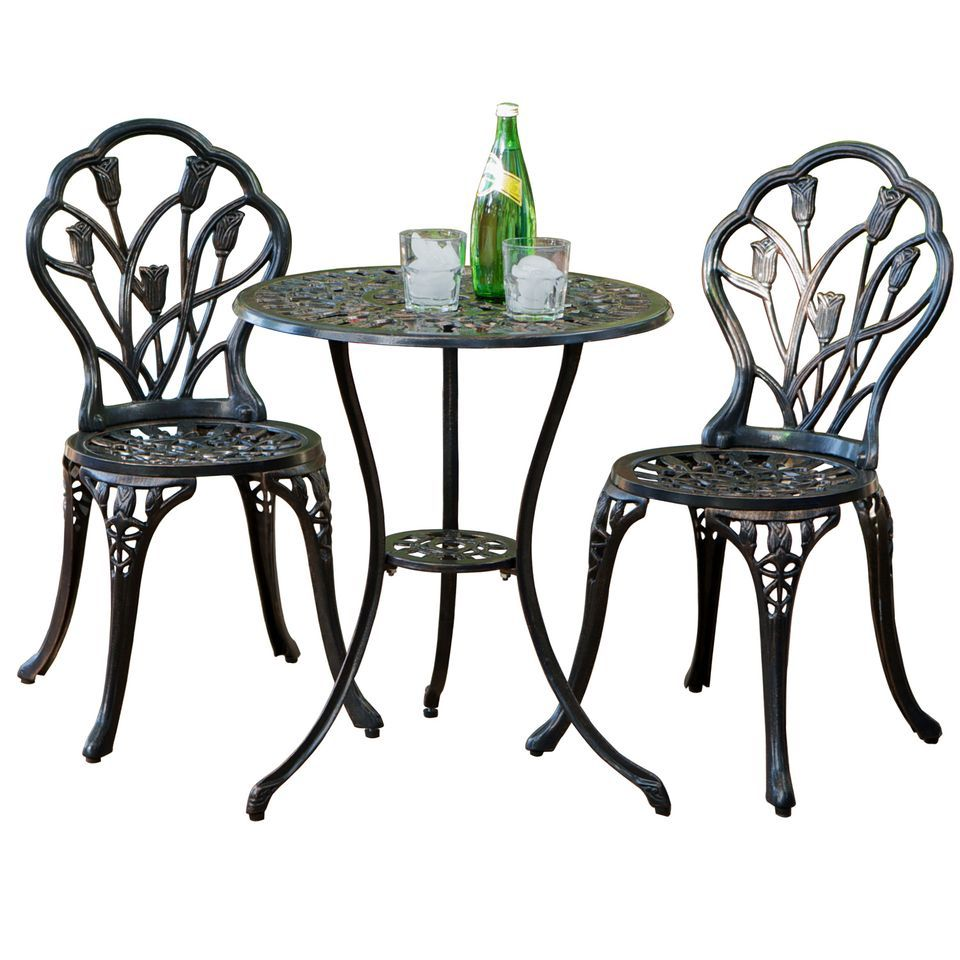 438-744 - Christopher Knight Home™ Nassau Cast Aluminum Outdoor Bistro Furniture Set
