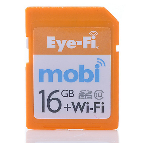 438-821 - Eye-Fi Mobi 16GB SDHC Memory Card w/ Built-in Wi-Fi