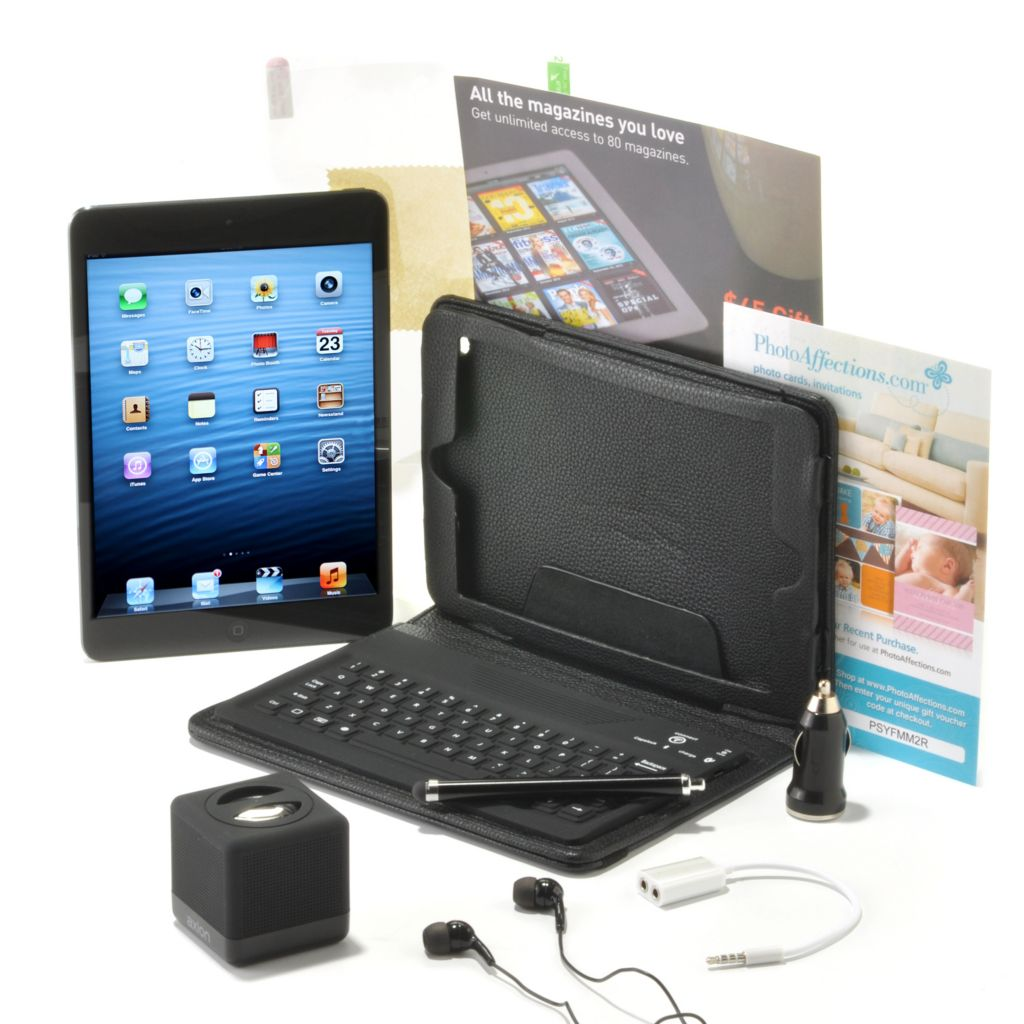 "438-822 - Apple® iPad® Mini 7.9"" LED 64GB Wi-Fi Tablet w/ Bluetooth® Accessories Kit"
