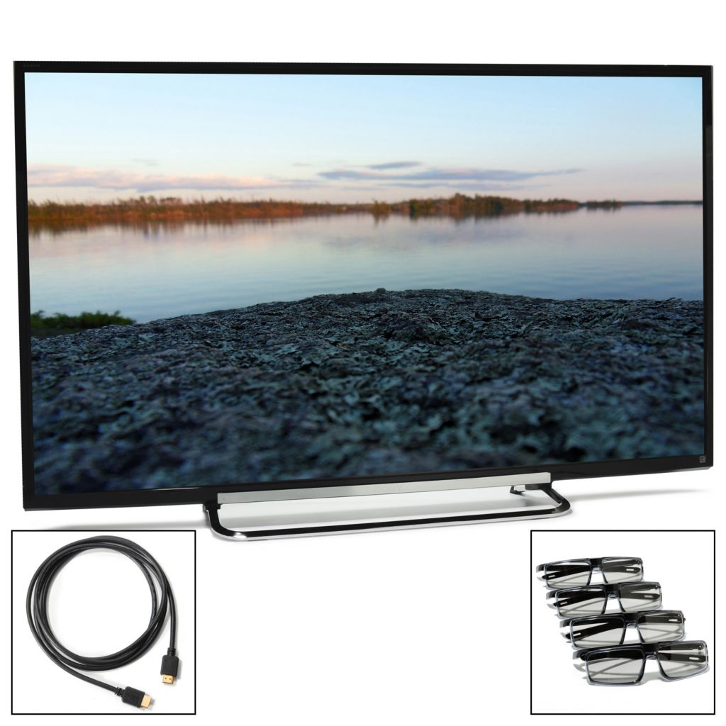 438-831 - Sony Bravia® 1080p MotionFlow XR 240 Smart 3D LED HDTV w/ Four 3D Glasses & HDMI Cable