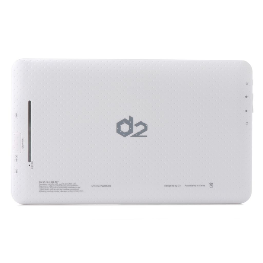 D2 Pad® Google Certified Android™ 4.1 4GB Storage Wi-Fi Tablet