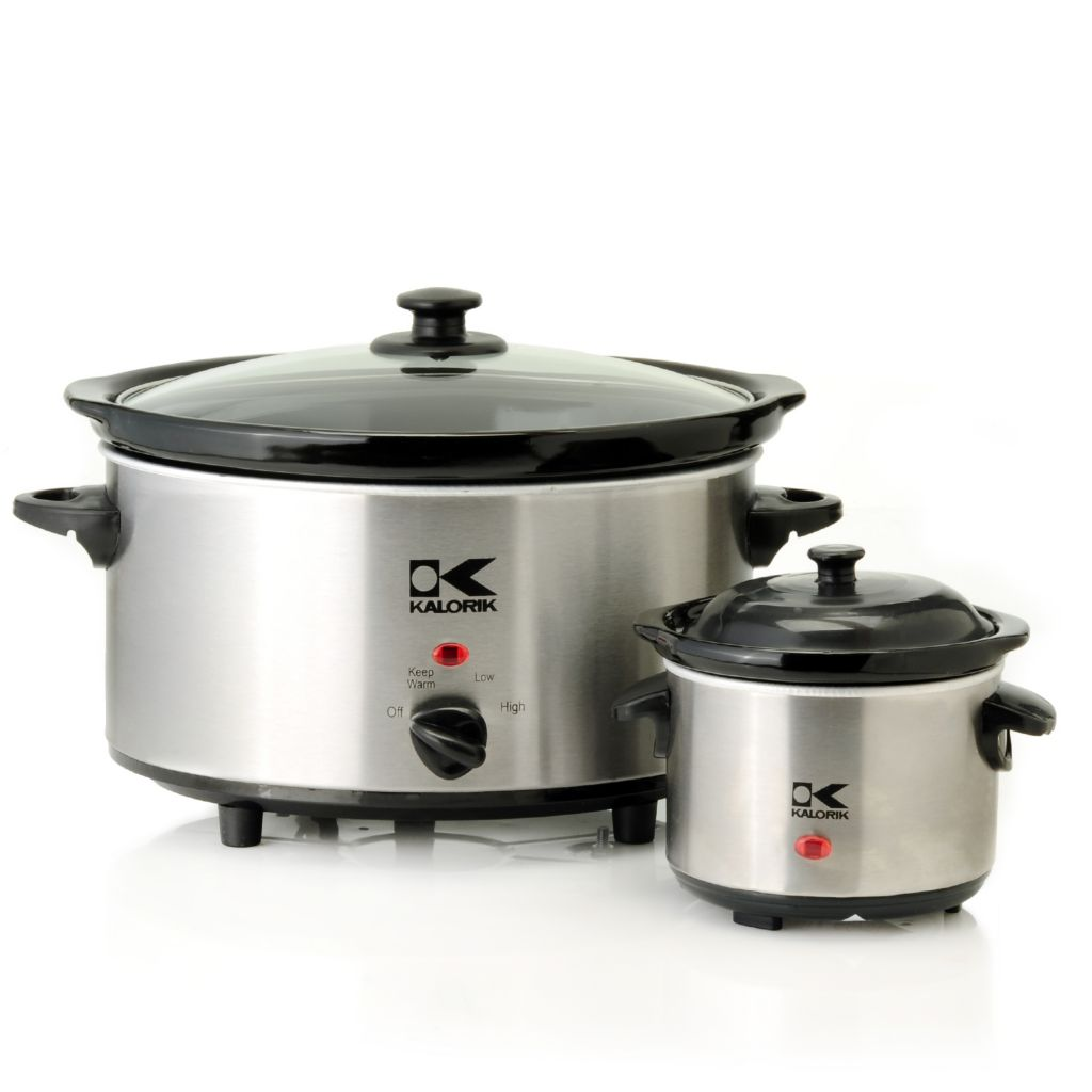 438-926 - Kalorik® Stainless Steel Slow Cooker & Sauce Warmer