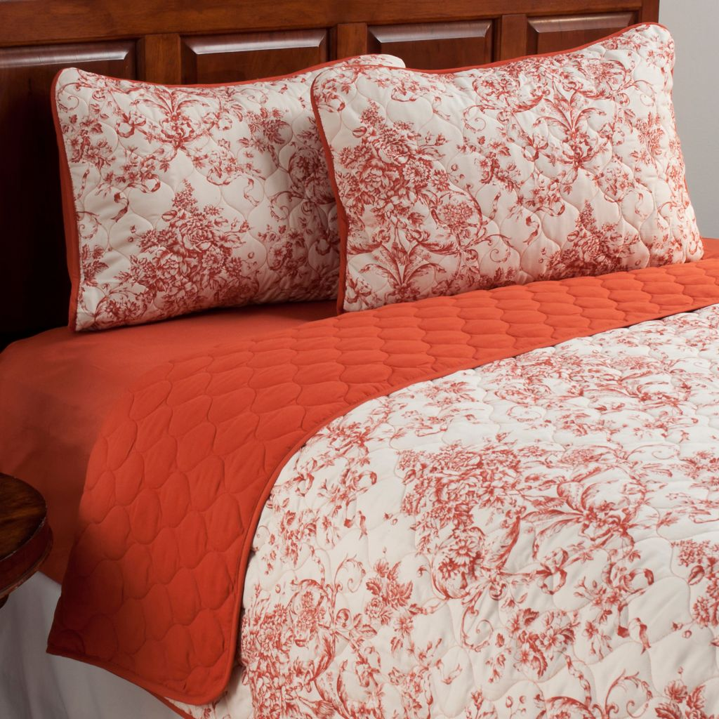 438-988 - Cozelle® Microfiber Floral Three-Piece Coverlet Set