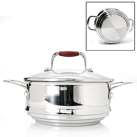438-999 - Cook's Companion™ Stainless Steel Steamer Insert w/ Glass Lid