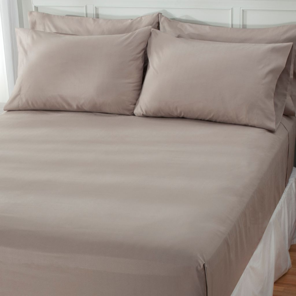 439-007 - Cozelle® Microfiber Herringbone Embossed Six-Piece Sheet Set