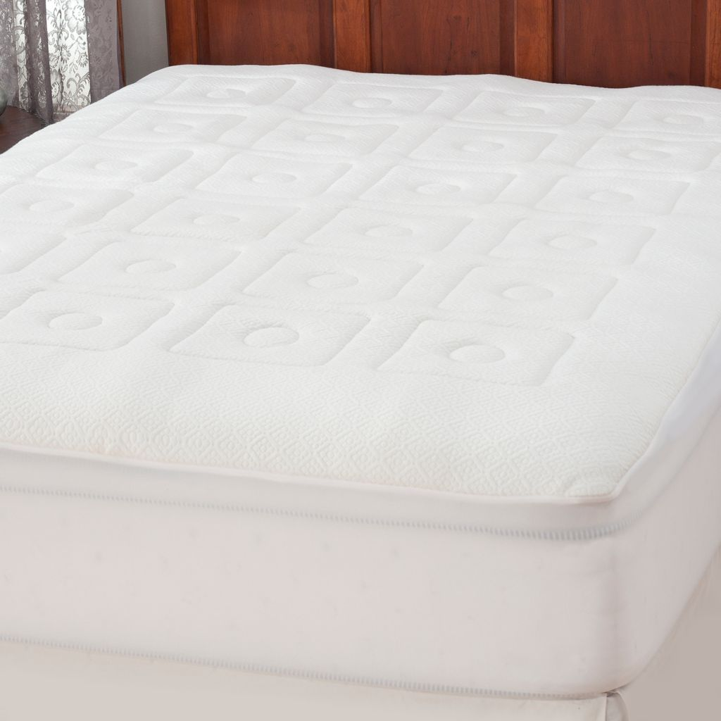 "439-009 - North Shore Linens™ 1"" Zonal Memory Foam Mattress Pad"